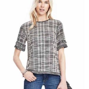 BR Fringe Knit Short Sleeve Size M